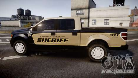 Ford F150 Liberty County Sheriff [ELS] Slicktop for GTA 4 left view