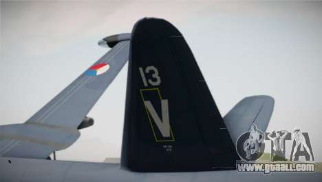 Lockheed P2V-7 Neptune MLD for GTA San Andreas back left view