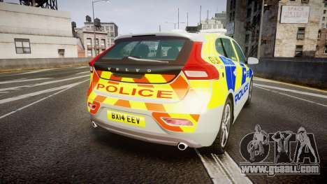 Volvo V40 Metropolitan Police [ELS] for GTA 4 back left view
