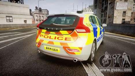 Volvo V40 Metropolitan Police [ELS] for GTA 4 back left view