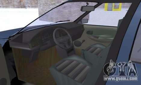 Dacia Super Nova for GTA San Andreas interior