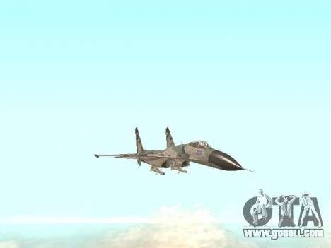 Su 27 for GTA San Andreas
