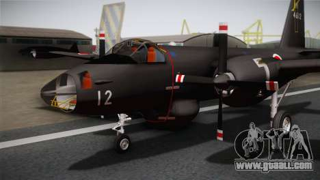 P2V-7 Lockheed Neptune RCAF for GTA San Andreas back view