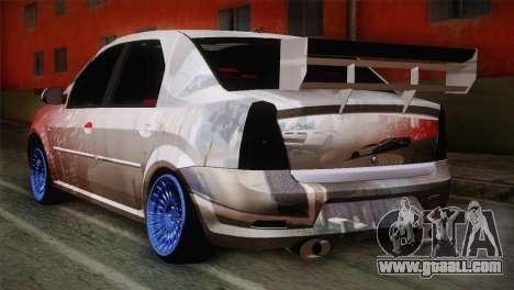 Dacia Logan Most Wanted Edition v1 for GTA San Andreas left view