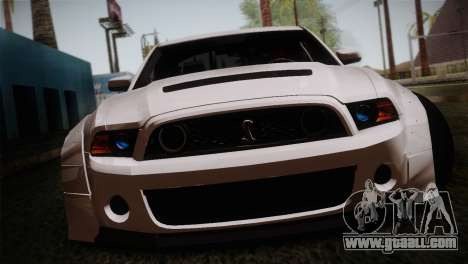 Ford Shelby GT500 RocketBunny SVT Wheels for GTA San Andreas back view