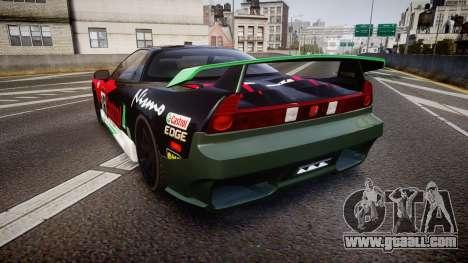 Honda NSX 1998 [EPM] castrol for GTA 4 back left view