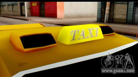 Peugeot 407 Sport Taxi for GTA San Andreas inner view