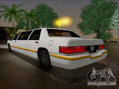 Elegant Limousine for GTA San Andreas back left view