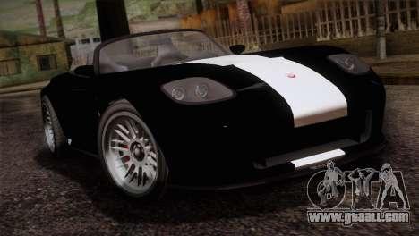 GTA 5 Invetero Coquette v2 IVF for GTA San Andreas back view