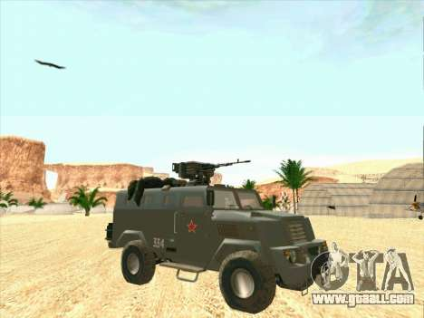 Armored Bear for GTA San Andreas back view