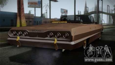 Chevrolet Impala for GTA San Andreas left view