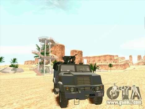 Armored Bear for GTA San Andreas back left view
