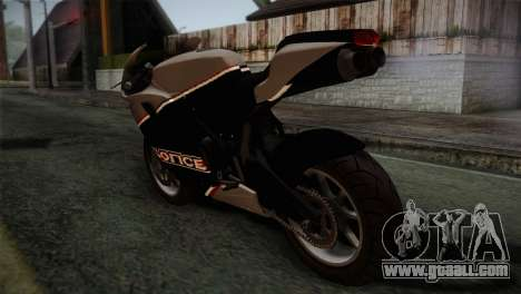 GTA 5 Bati Police for GTA San Andreas left view