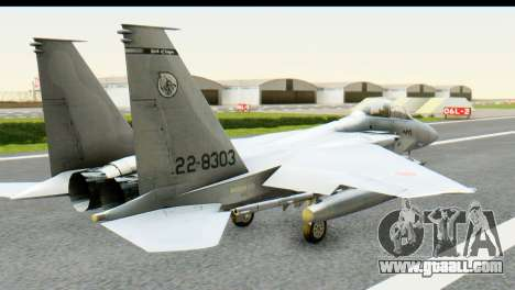 F-15J Mitsubishi Heavy Industries for GTA San Andreas left view