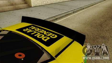 NASCAR Toyota Camry 2013 for GTA San Andreas back view