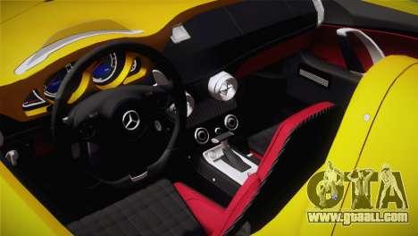 Mercedes-Benz SLR McLaren Stirling Moss for GTA San Andreas back view