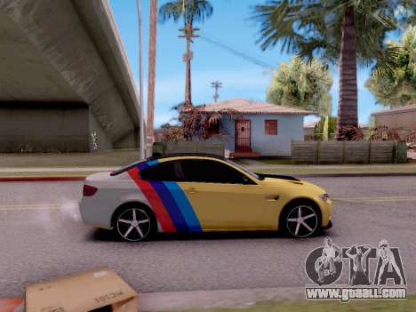 BMW M3 E92 for GTA San Andreas back left view