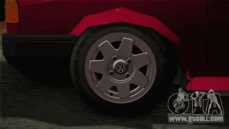 Volkswagen Senda for GTA San Andreas back left view