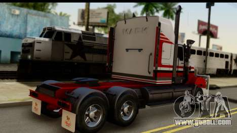 Mack Superliner 6x4 for GTA San Andreas left view