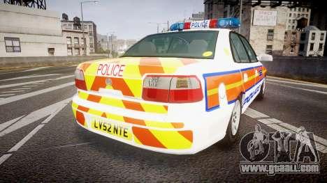 Vauxhall Omega Metropolitan Police [ELS] for GTA 4 back left view