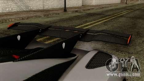 Koenigsegg One 1 for GTA San Andreas right view