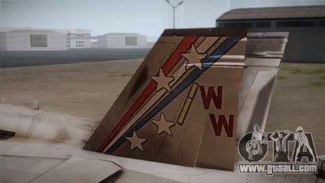 F-18 Hornet (Battlefield 2) for GTA San Andreas back left view