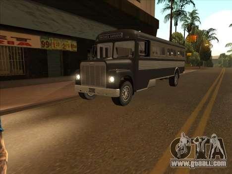 Bus из GTA 3 for GTA San Andreas