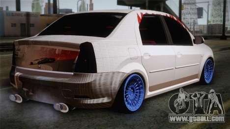Dacia Logan Most Wanted Edition v3 for GTA San Andreas left view