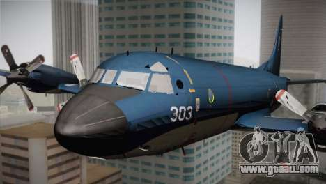 Lockheed P-3 Orion MLD Old for GTA San Andreas back view