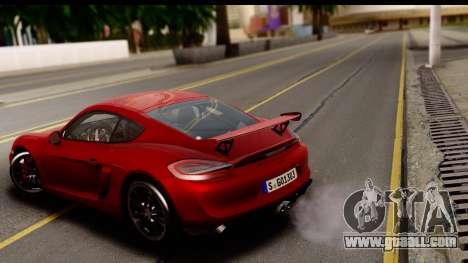 Porsche Cayman GT4 981c 2016 EU Plate for GTA San Andreas back left view