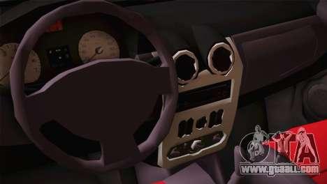 Dacia Logan Most Wanted Edition v2 for GTA San Andreas back view