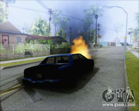 Riding on blown cars for GTA San Andreas second screenshot