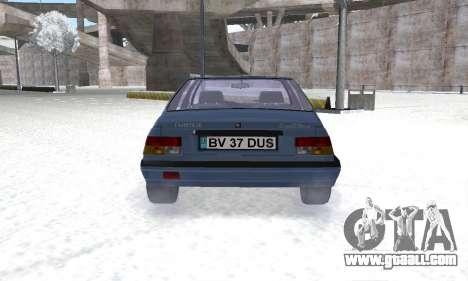 Dacia Super Nova for GTA San Andreas back view