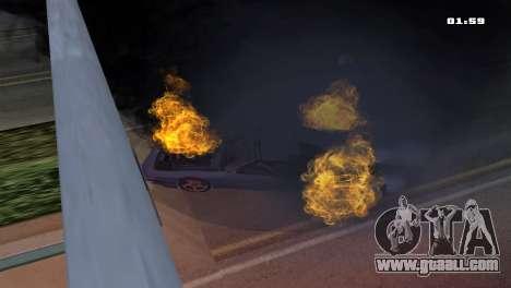 Burning Car for GTA San Andreas third screenshot