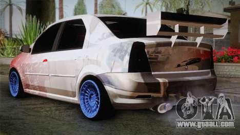 Dacia Logan Most Wanted Edition v2 for GTA San Andreas left view