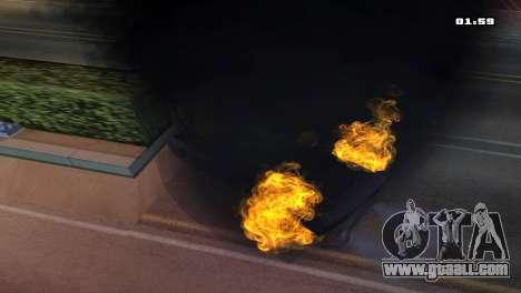 Burning Car for GTA San Andreas forth screenshot