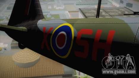 ИЛ-10 Royal Air Force for GTA San Andreas back view