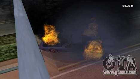 Burning Car for GTA San Andreas second screenshot