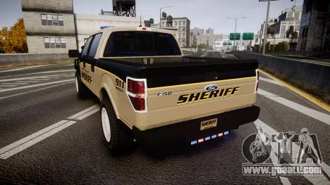 Ford F150 2010 Liberty County Sheriff [ELS] for GTA 4 back left view