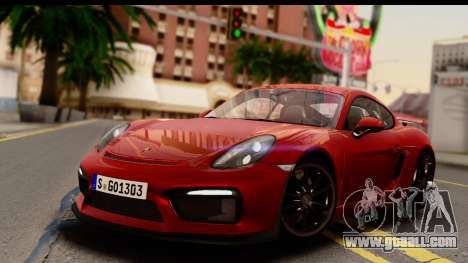 Porsche Cayman GT4 981c 2016 EU Plate for GTA San Andreas