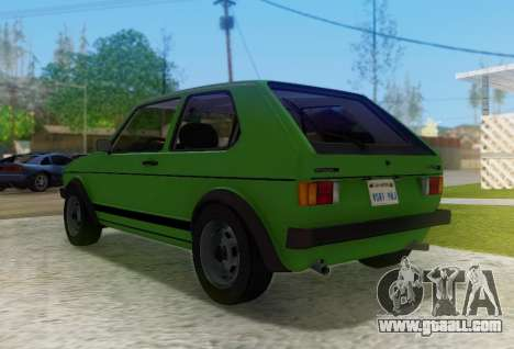Volkswagen Golf GTD Mk1 for GTA San Andreas right view
