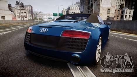 Audi R8 Spyder 2014 [EPM] for GTA 4 back left view