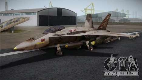 F-18 Hornet (Battlefield 2) for GTA San Andreas