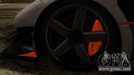 Koenigsegg One 1 for GTA San Andreas back left view