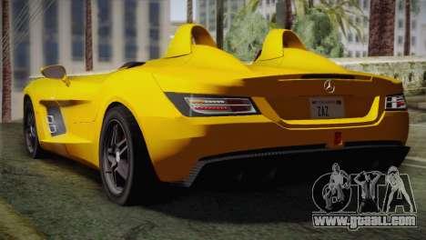 Mercedes-Benz SLR McLaren Stirling Moss for GTA San Andreas left view