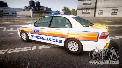 Vauxhall Omega Metropolitan Police [ELS] for GTA 4 left view