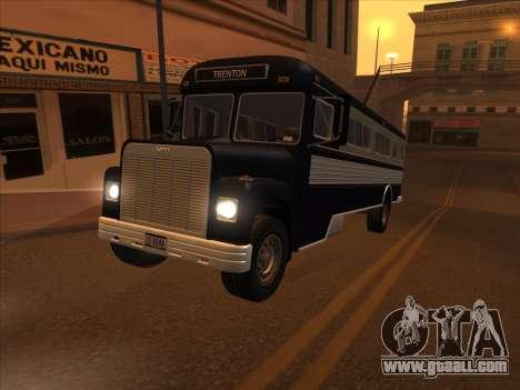 Bus из GTA 3 for GTA San Andreas inner view