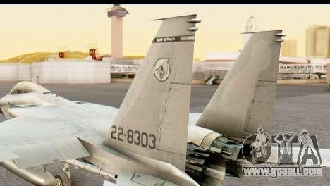F-15DJ Mitsubishi Heavy Industries for GTA San Andreas back left view