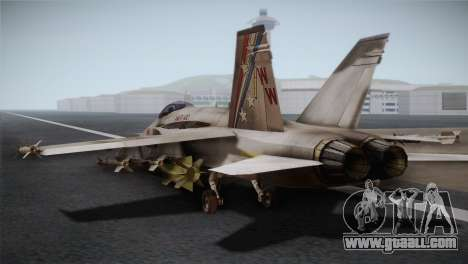 F-18 Hornet (Battlefield 2) for GTA San Andreas left view