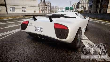 Pegassi Infernus for GTA 4 back left view